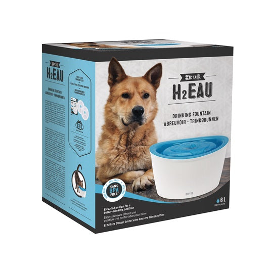 Zeus H2EAU Dog Drinking Fountain - 6 L (200 fl oz) - Exotic Wings and Pet Things