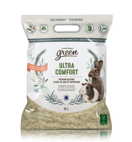 Living World Green Ultra Comfort Bedding - Exotic Wings and Pet Things