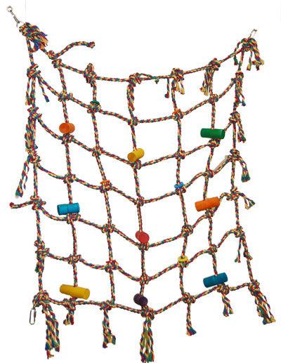Zoo-Max 672 'Net 30¨ X 30¨ Cotton 3/8¨ Parrot Net Toy - Exotic Wings and Pet Things
