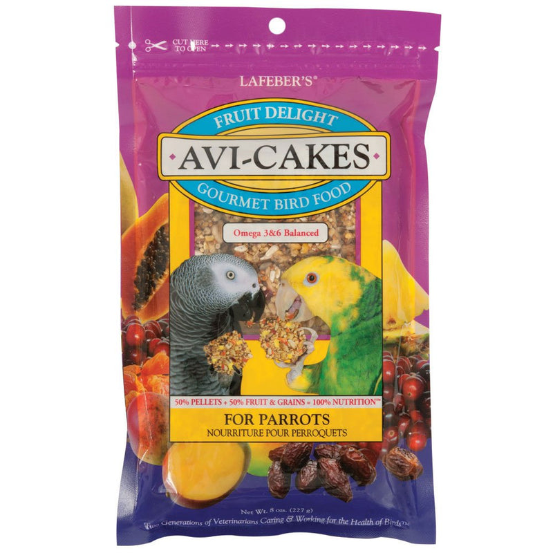 Lafebers Fruit Delight Avi-Cakes for Parrots 8oz - Exotic Wings and Pet Things