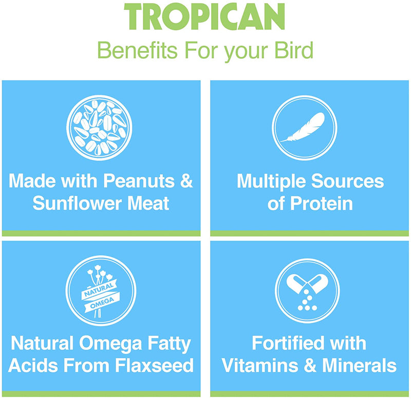 Tropican Lifetime Formula Sticks for Parrots (18-22mm long & 6.5-7mm dia.)