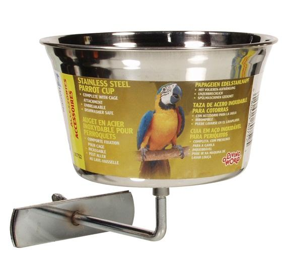 Living World Stainless Steel Parrot Bowl - Exotic Wings and Pet Things