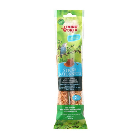 Hagen Living World Budgie Sticks - Honey Flavour (2 Pack / 5 Pack) - Exotic Wings and Pet Things