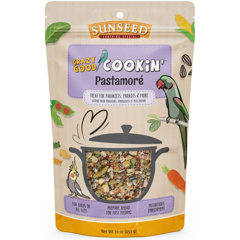 Sunseed Crazy Good Cookin' Pastamore 16 oz - Exotic Wings and Pet Things