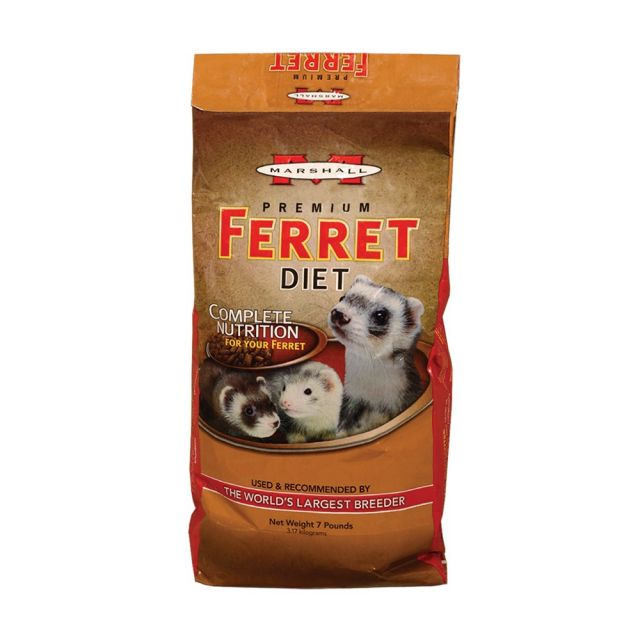 Marshall Premium Ferret Diet 7 lb - Exotic Wings and Pet Things