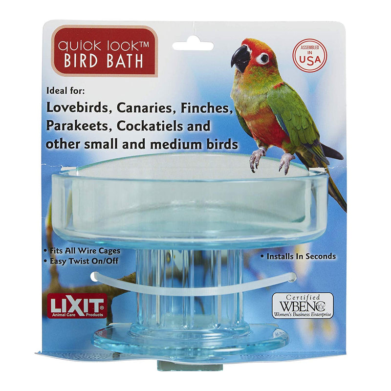 Lixit Quick Lock Caged Bird Bath - Exotic Wings and Pet Things