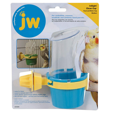 JW Pet Inight Clean Up Feed and Water Cup (Multiple Sizes) - Exotic Wings and Pet Things
