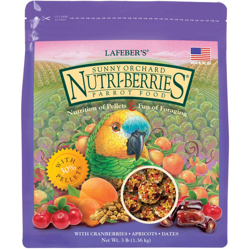 Lafebers Gourmet Sunny Orchard Nutri-Berries for Parrot/Amazon/African Grey