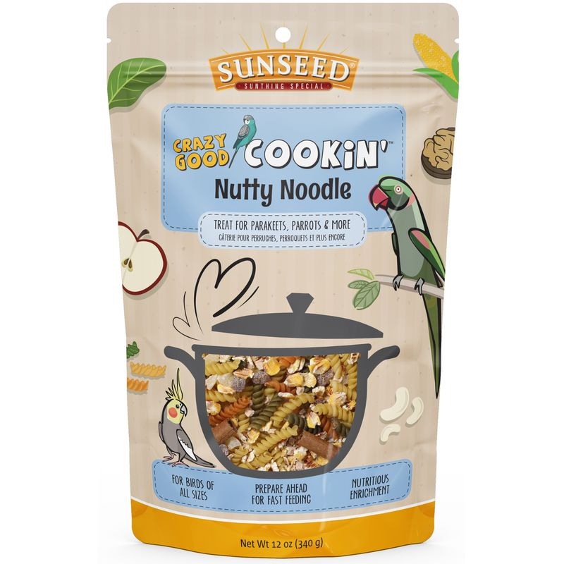 Sunseed Crazy Good Cookin' Nutty Noodle Treat 12 oz - Exotic Wings and Pet Things