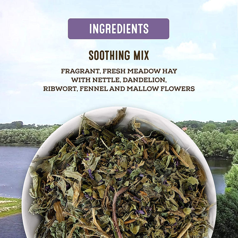 Living World Green Botanicals Meadow Hay - Soothing Mix - 500 g