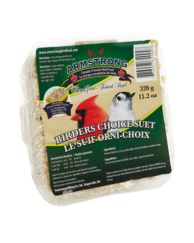 Armstrong Royal Jubilee Birders Choice Suet 1 pc / 8 pc - Exotic Wings and Pet Things