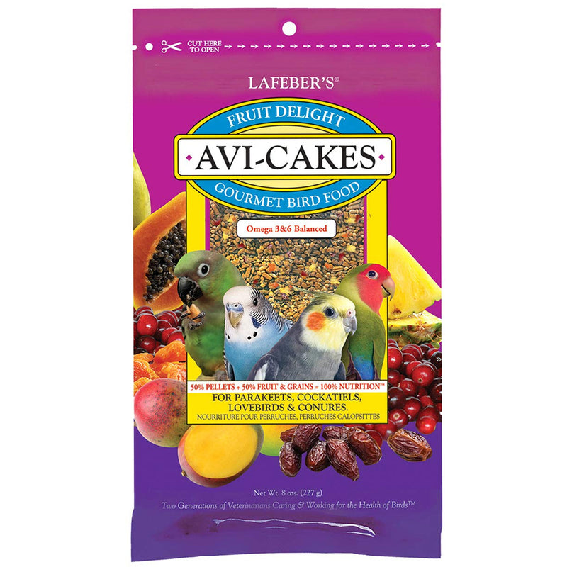 Lafebers Fruit Delight Avi-Cakes for Small Birds 8oz - Exotic Wings and Pet Things