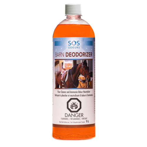 SOS Odours Barn Deodorizer Floor Cleaner and Ammonia Odour Neutralizer 1L - Exotic Wings and Pet Things
