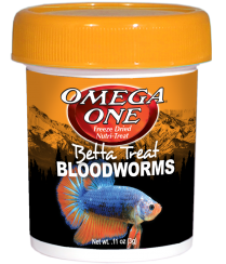 Omega One Bloodworms Betta Treat 0.11oz/3g