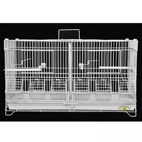 King's Cages C2416 White Double Breeding Cage