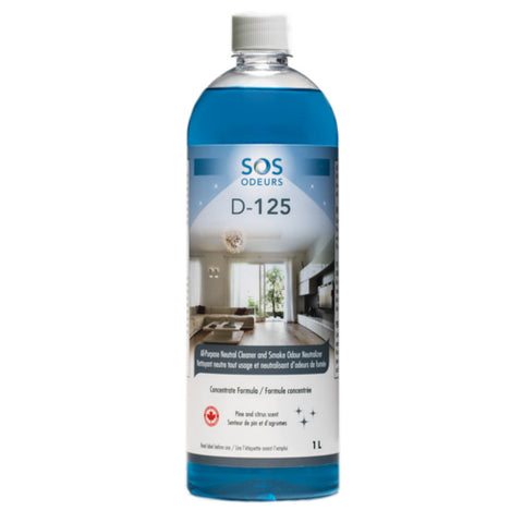SOS Odours D-125 All Purpose Neutral Cleaner with Odour Neutralizer 1L - Exotic Wings and Pet Things