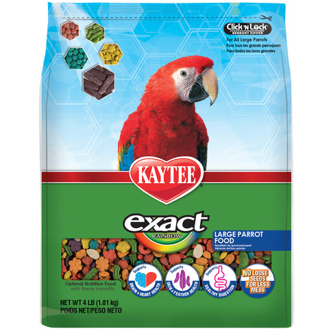 Kaytee Exact Parrot Rainbow Large Parrot Macaw, Cockatoo Pellets - Exotic Wings and Pet Things