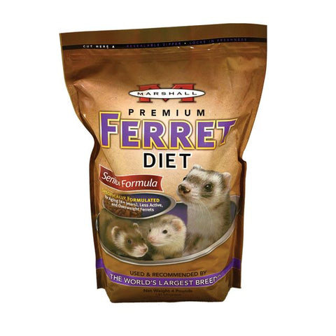 Marshall Seniors Formula Ferret Diet 4 lb - Exotic Wings and Pet Things