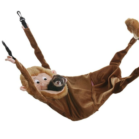 Marshall Hangin' Monkey Hammock w Clips for Ferrets - Exotic Wings and Pet Things