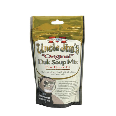 Marshall Uncle Jim's Original Duk Soup Mix for Ferrets 4.5 oz - Exotic Wings and Pet Things