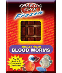 Omega One Frozen Bloodworms Cube Pack