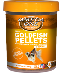 Omega One Goldfish Pellets Small/Medium/Large Sinking Pellets
