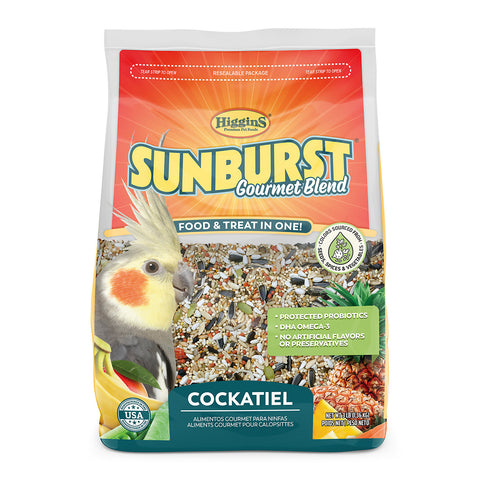 Higgins Sunburst Gourmet Blend Cockatiel Seed Mix - Exotic Wings and Pet Things