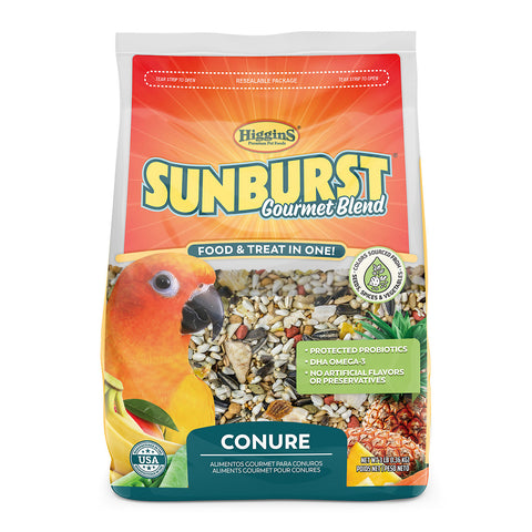 Higgins Sunburst Gourmet Blend Conure Seed Mix - Exotic Wings and Pet Things