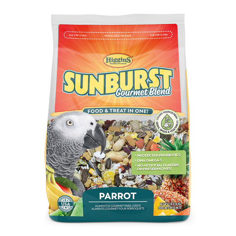 Higgins Sunburst Gourmet Blend Parrot Seed Mix - Exotic Wings and Pet Things