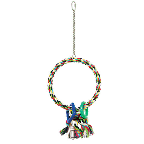 King's Cages Rope Hoop With Tassle Bird Swing - Exotic Wings and Pet Things