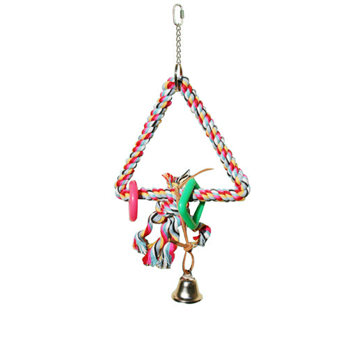 King's Cages Triangle Swing & Perch Parrot Parakeet Toy