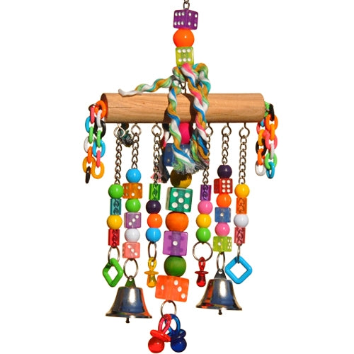 King's Cages No Rope Dice Dangler Bird Toy - Exotic Wings and Pet Things