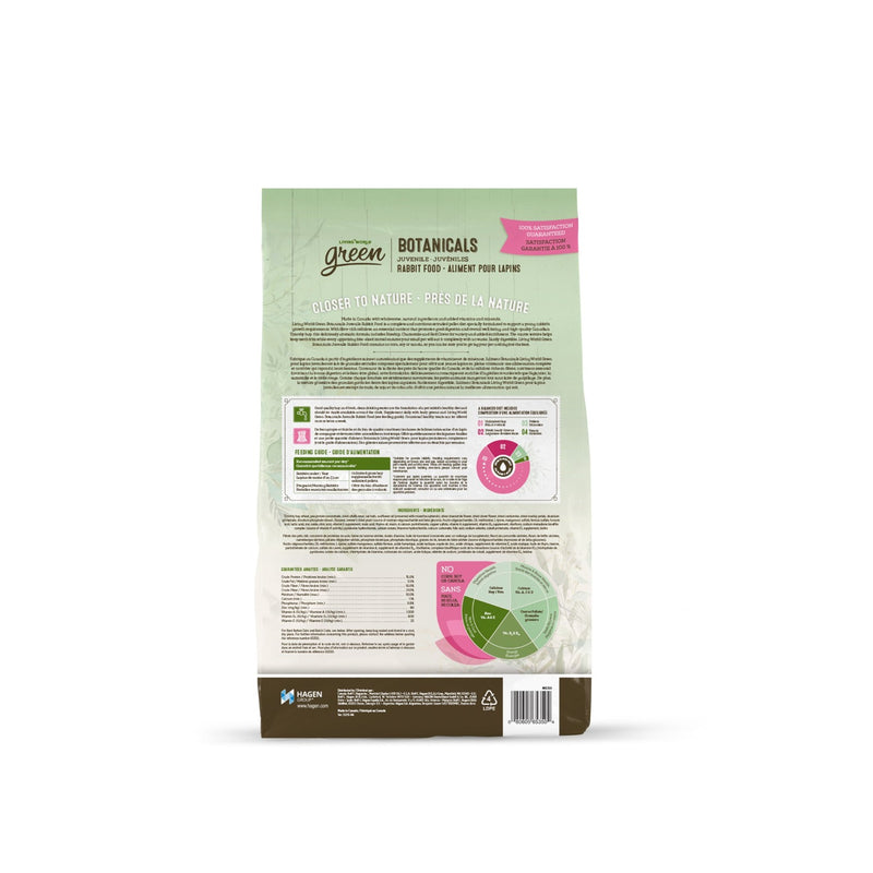 Living World Green Botanicals Juvenile Rabbit Food 3 lbs X Case of 6