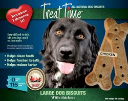 Treat Time! Large Dog Biscuit Chicken 7 lb Box