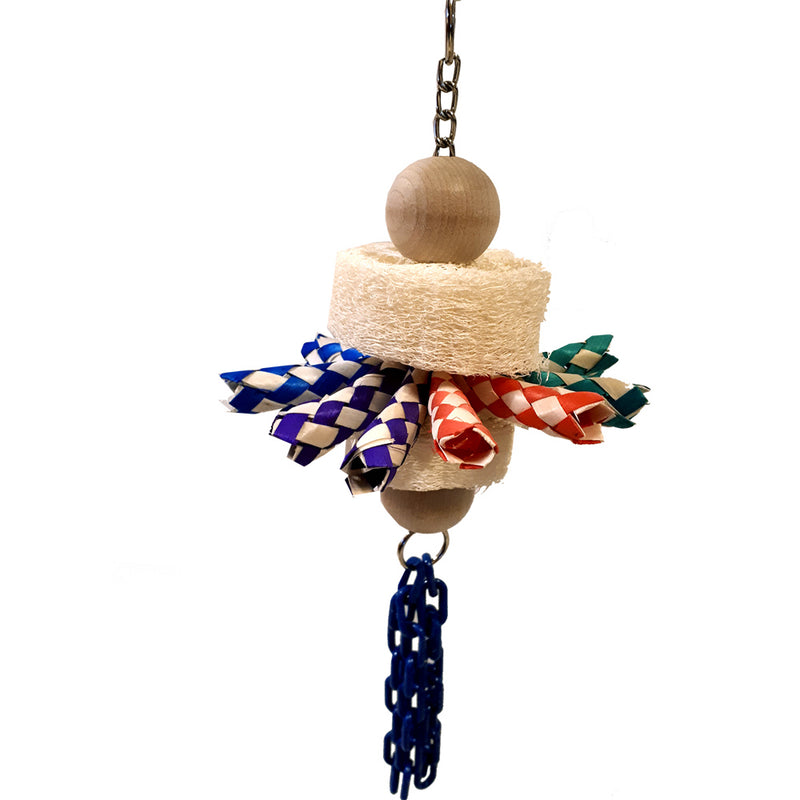 Billy Bird Loofah 'n' traps Bird Toy - 409 - Exotic Wings and Pet Things
