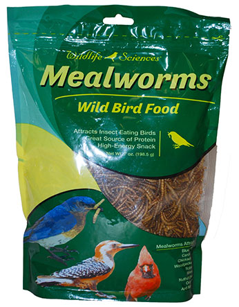 Wildlife Sciences Dried Mealworms 7 oz - Exotic Wings and Pet Things