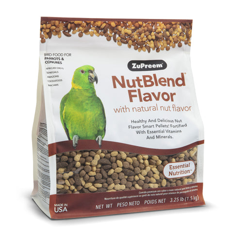 ZuPreem NutBlend Flavor Parrot & Conure Pellet Daily Nutrition - Exotic Wings and Pet Things