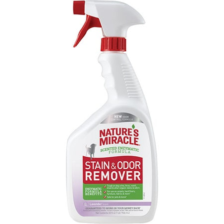 Nature's Miracle Dog Stain & Odor Remover Lavender Scent 32 oz