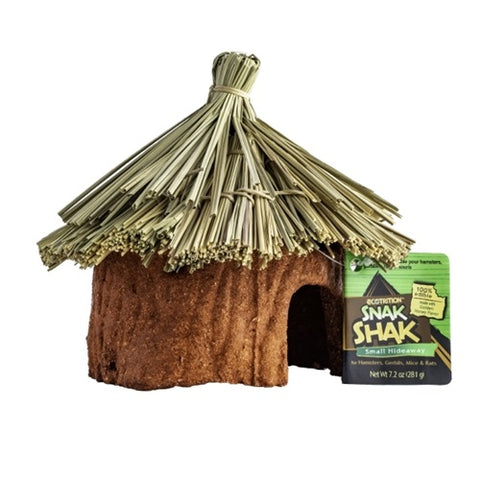 Ecotrition Snak Shak Small Hideaway for Hamsters, Gerbils, Mice and Rats