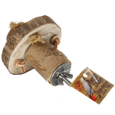 Parrot Lumber Flinstone Wheel - Exotic Wings and Pet Things