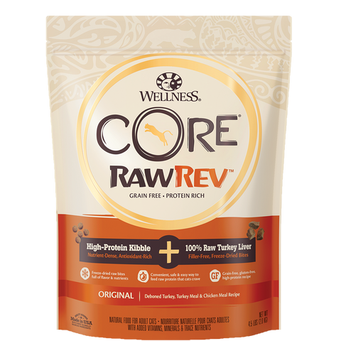 Wellness CORE RawRev Original 100% Raw Turkey Cat Kibble