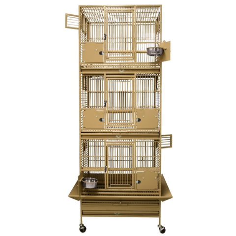 King's Cages SLFDD 2622 Space Saver Triple Stack Cage