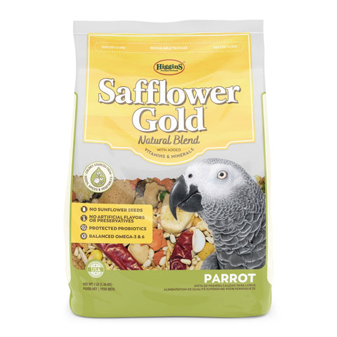 Higgins Safflower Gold Parrot Seed Mix
