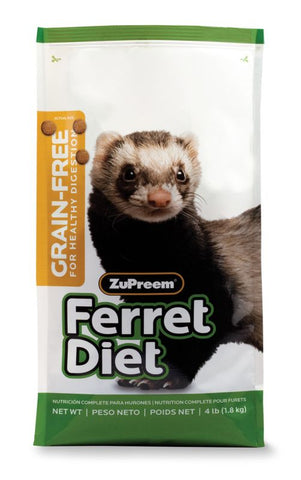 Zupreem Premium Grain Free Ferret Diet 4 lb - Exotic Wings and Pet Things