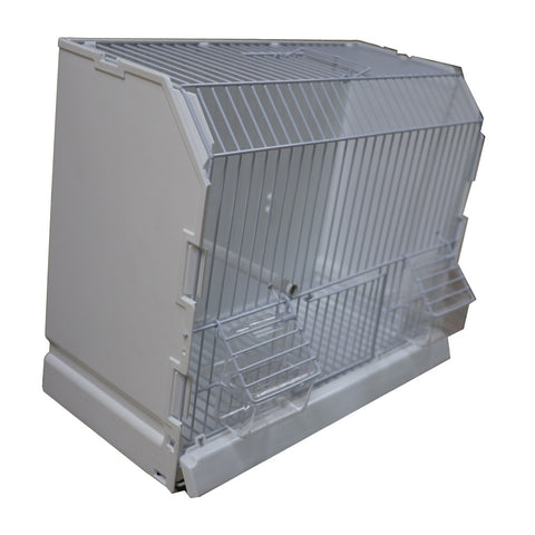 White Show Cage with Grill