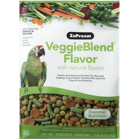 ZuPreem VeggieBlend Parrot & Conure Pellet Daily Nutrition - Exotic Wings and Pet Things