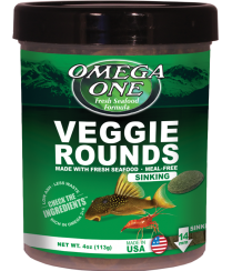 Omega One Veggie Sinking Rounds for Tropical Fish