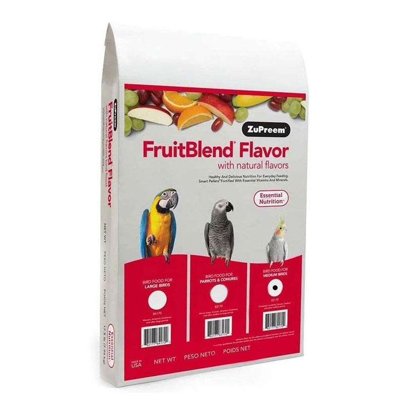 ZuPreem FruitBlend Medium Bird Pellet Daily Nutrition - Exotic Wings and Pet Things