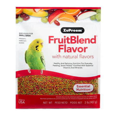 ZuPreem FruitBlend Small Bird Pellet Daily Nutrition - Exotic Wings and Pet Things