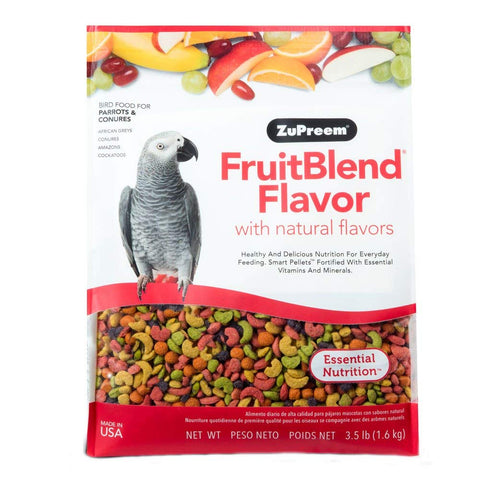 ZuPreem FruitBlend Parrot & Conure Pellet Daily Nutrition - Exotic Wings and Pet Things